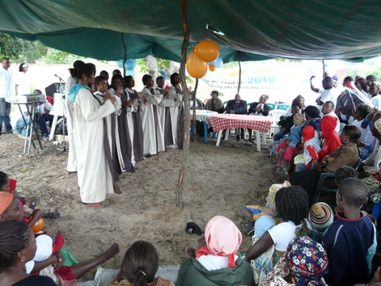 Local Faith Communities such as this one at a Malaria awareness raising event in Maputo, Mozambique, are providing humanitarian assistance to those in need. Photo courtesy of Jean Duff on behalf of PIRCOM.