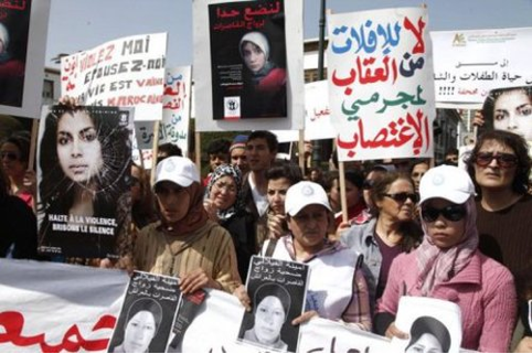 Women's protests against rape, calling for the abrogation of Article 475 of the penal code; Morocco, March 2012. – LavieEco