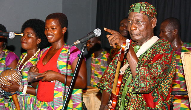 Highlife Legend Ebo Taylor in 2010 with his band Bonze Konkoma at Club W71.