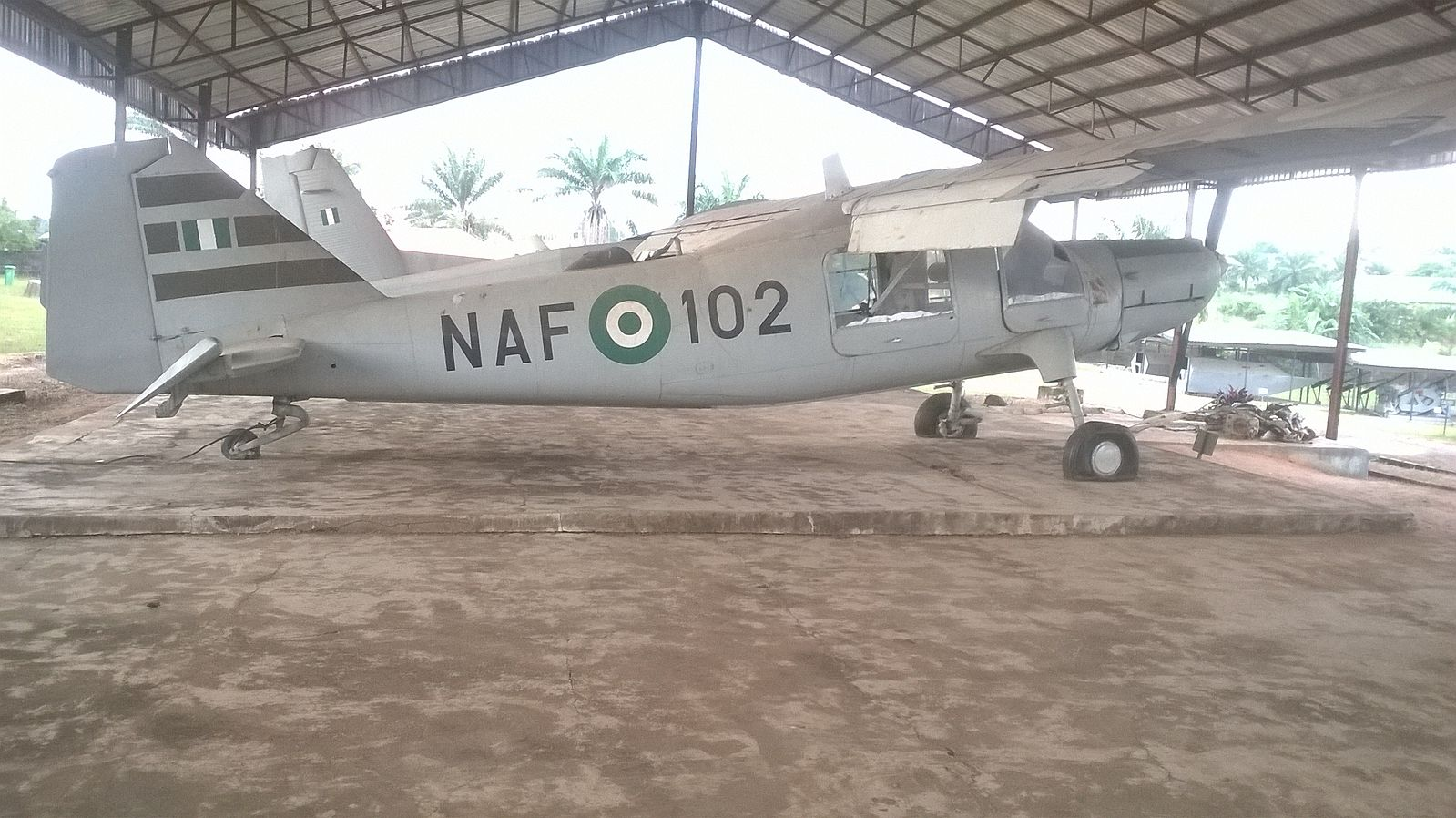 One of Nigerian Gov. Airforce War planes being captured and recovered after the Biafran War in Nigeria Presently located at the National War Museum, Umuahia, Abia State, Nigeria