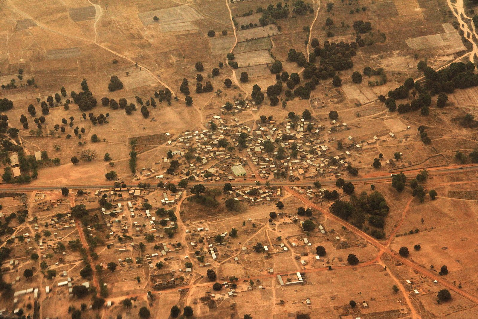 View of Mali taken by US Air Force Supporting French Military, 2013